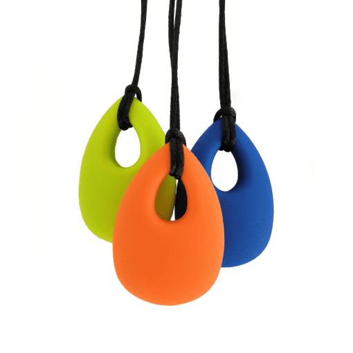 siliconen bijtketting drop in diverse kleuren
