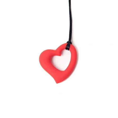 bijtketting hart rood