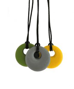 siliconen bijtketting round in diverse kleuren