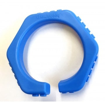 chewbuddy bijtarmband open blauw