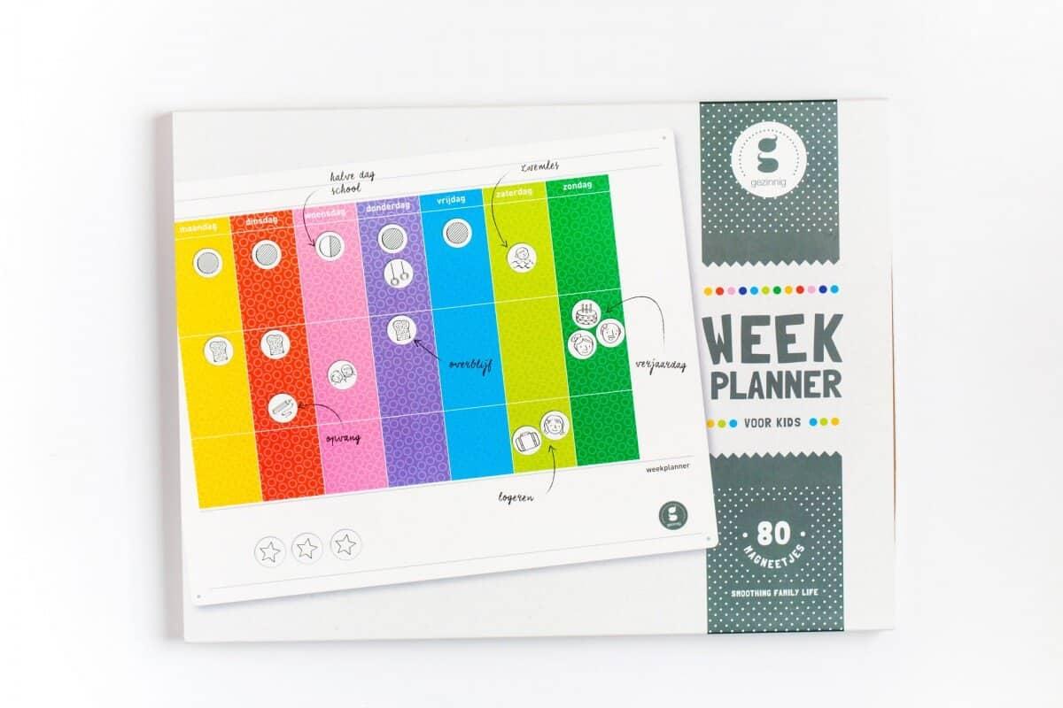 Gezinnig weekplanner voor kids kauwsieraden meer