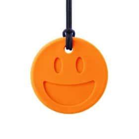 bijtketting ark therapeutic smiley oranje