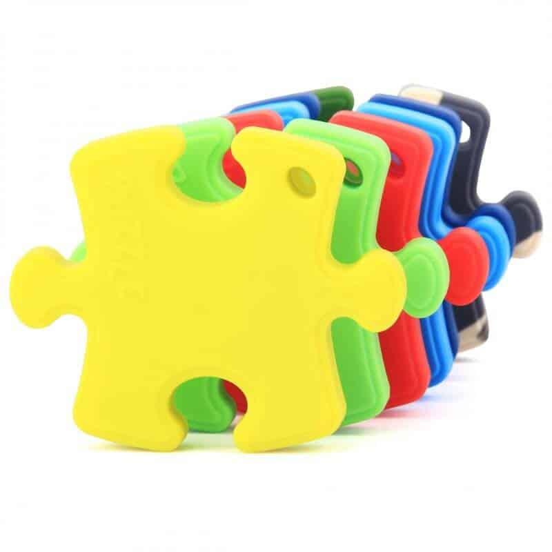 bijtketting puzzel; populair kauwsieraad voor kinderen