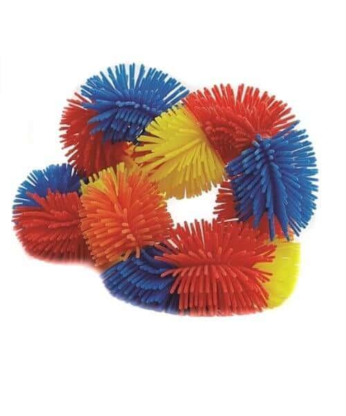 Tangle Hairy junior geel, oranje, rood, blauw