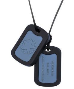 Munchables dog tag zwart