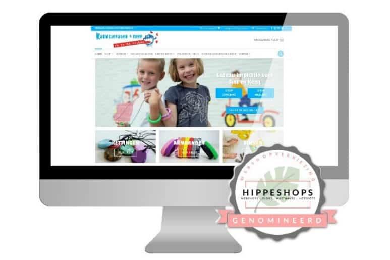 Genomineerd voor de hipste webshopverkiezing van de lage landen!