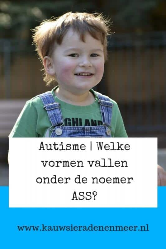 Sinds een aantal jaren spreken we niet meer over autisme maar van een autistisch spectrum stoornis. Welke vormen van autisme zijn samengevoegd onder ASS?