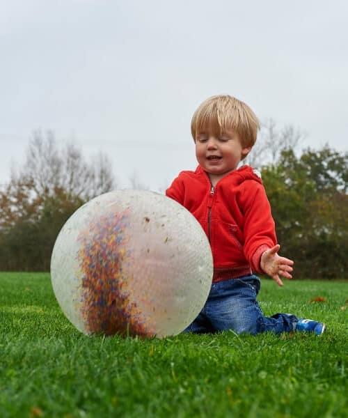 Sensorische opblaasbare bal