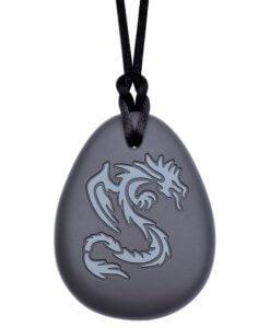 bijtketting dragon 2 kleuren grijs