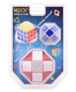 magische slang en kubus