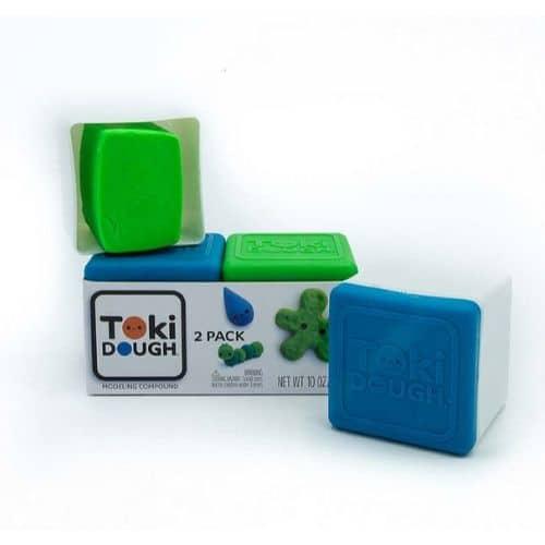Toki Dough 2-pack boetseerklei groen_blauw