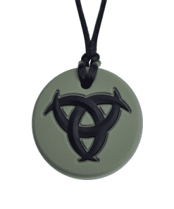 munchables bijtketting celtic knot groen