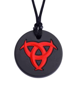 munchables bijtketting celtic knot rood