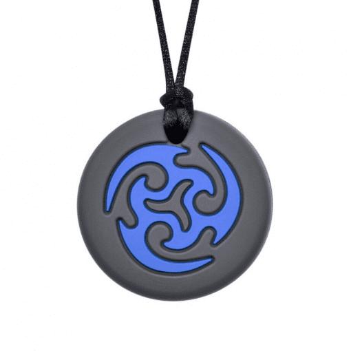 munchables bijtketting ninja star blauw