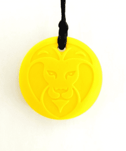 bijtketting leeuw geel