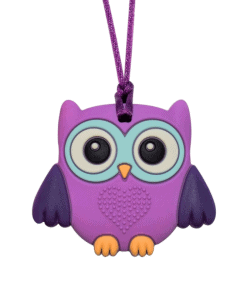 Munchables baby uil kauwketting paars