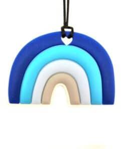bijtketting regenboog blauw