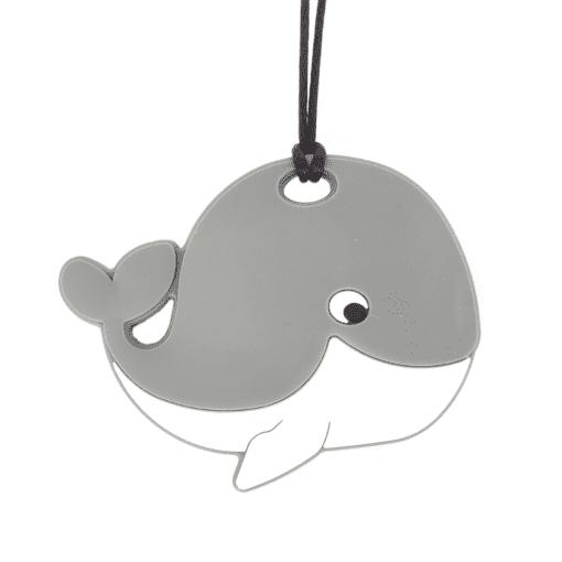 bijtketting walvis grijs